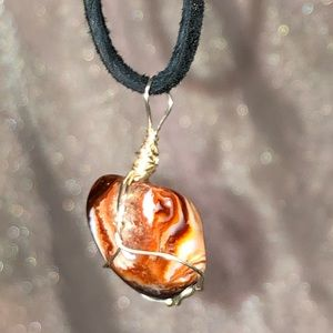Jewelry - Handmade Wire Wrapped Crazy Lace Agate Necklace